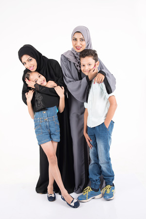 Arab mothers with their kids Stock Photo