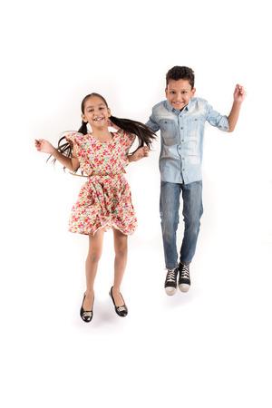 indexing: Arab children jumping