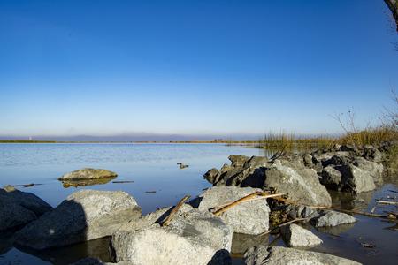 break: Big Break Regional Shoreline Stock Photo