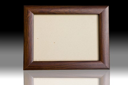 Blank wooden picture frame