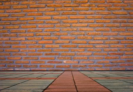 Grunge brickwall and floor Stock Photo - 7978164