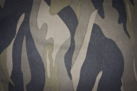 close-up camouflage pattern of cloth Stock Photo - 7978170