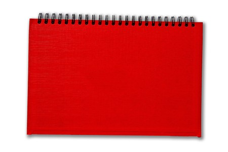 Red notebook isolate on white background Stock Photo - 7978184