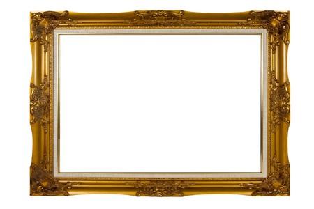 Blank vintage wooden picture frame
