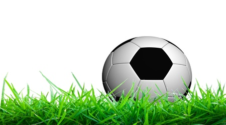 shootout: Soccer ball on green grass
