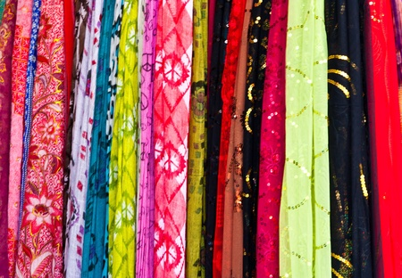 Colorful of fabric background photo