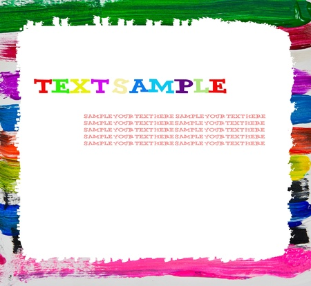 Abstract multicolor frame with space for your text message or your photo