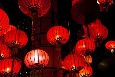 paper lantern: Chinese lantern Stock Photo