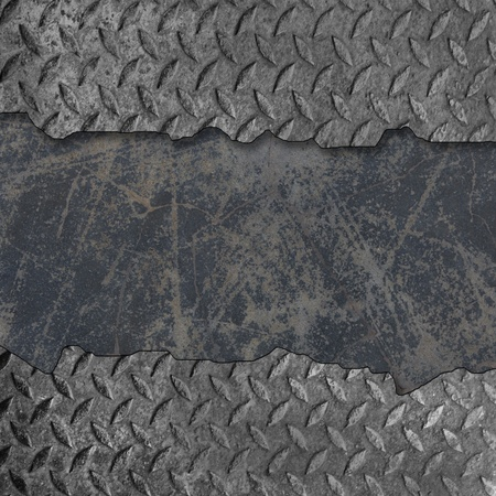 Grunge Metal plate with Cracked  Stock Photo