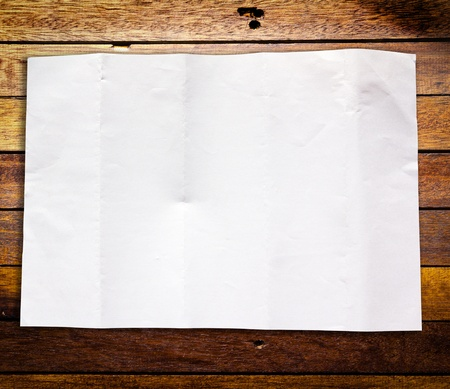 White crumpled paper on Wood panels background Stock Photo - 9291603