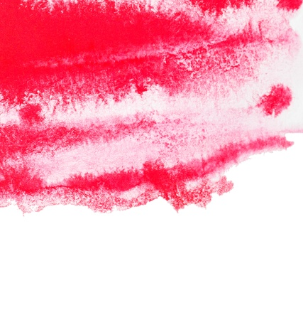 Abstract Red Watercolor Stock Photo - 9379887