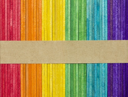 Multicolor of wood stick with space for your text photo