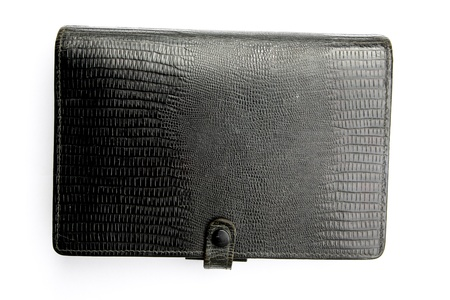 Black leather cover notebook photo