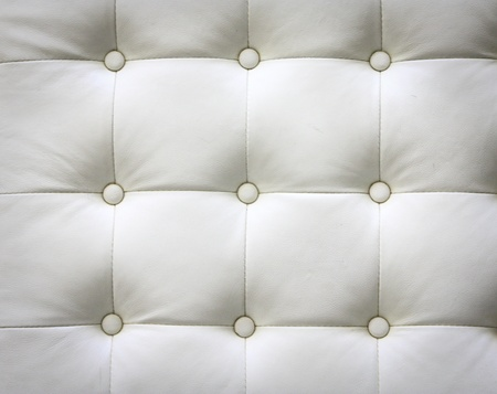 Luxury buttoned whiteleather pattern Stock Photo