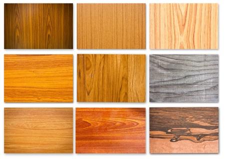 wooden pattern: Set di legno texture per sfondi