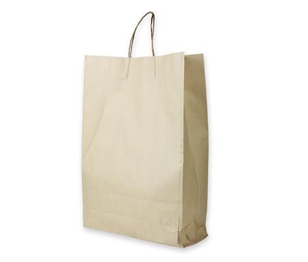 reciclable: Bolsa de papel reciclable aislado 2