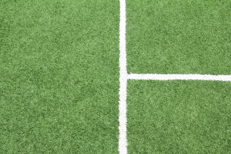 Lines on soccer field, Artificial Grass soccer Field1 Stock Photo - 10101050