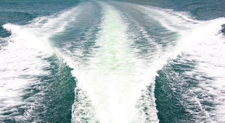 Speedy boat prop wash photo