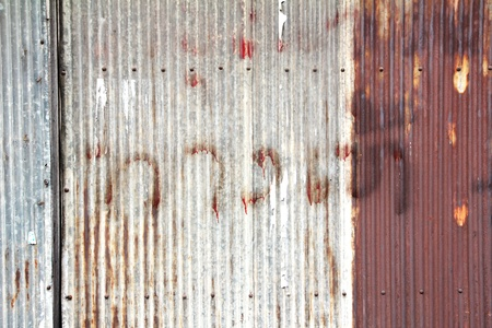 corrugated: rusty corrugated iron metal texture for background Stock Photo