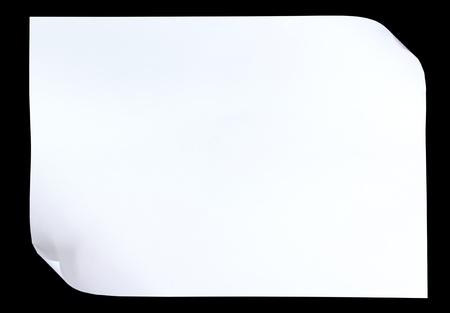Een Witboek met Krul op zwarte achtergrond