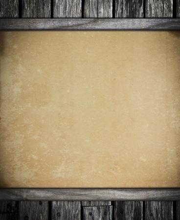 oude vintage papier op oude houten achtergrond