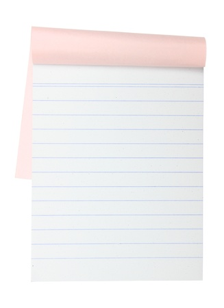 blank Paper tablet with line on white background Stock Photo - 10454967