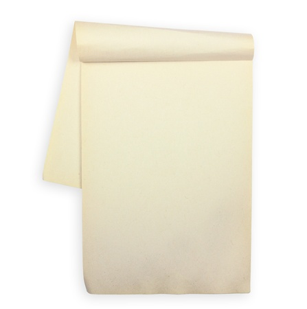 blank Paper tablet with line on white background, Recycle paper Stock Photo - 10454965