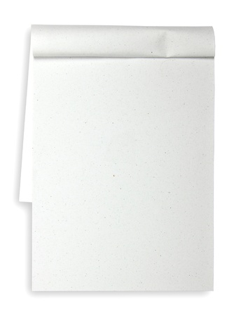 blank Paper tablet with line on white background, Recycle paper Stock Photo - 10454969