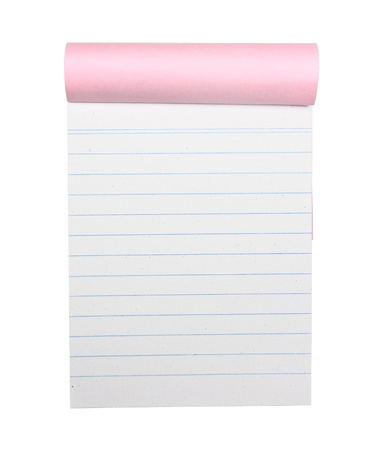 blank Paper tablet with line on white background Stock Photo - 10454964