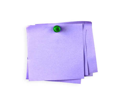 paper pin: Post-it Note with Pushpins