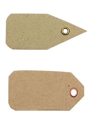 antiqued: Paper tag  Stock Photo