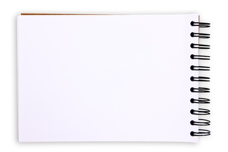 diary page: Blank Tablet on white background Stock Photo