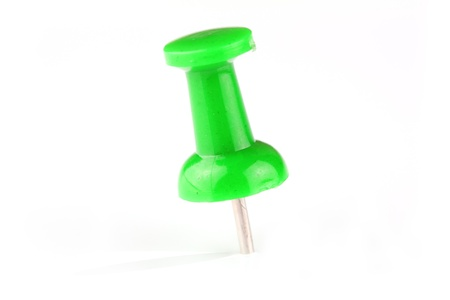geen: Geen pushpin on white background Stock Photo