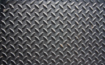 Texture of diamont plate metal background  photo