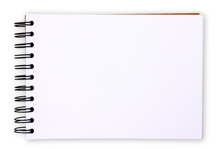 note books: Blank paper tablet on white background (with clipping paths)