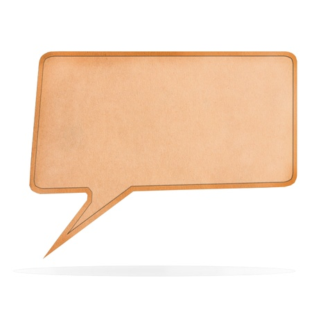 Blank Paper Speech bubble shape on white background, with clipping paths photo
