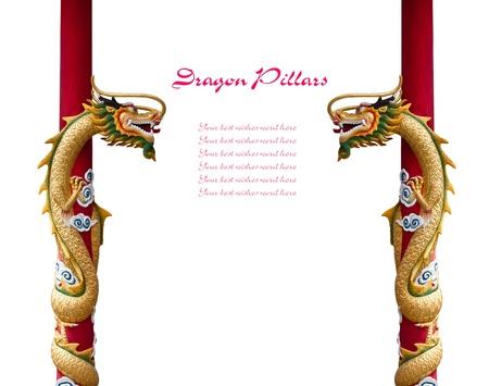 Dragon pijlers met ruimte voor uw tekst