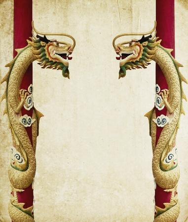 Dragon oud papier textuur gebruik voor achtergrond Stockfoto