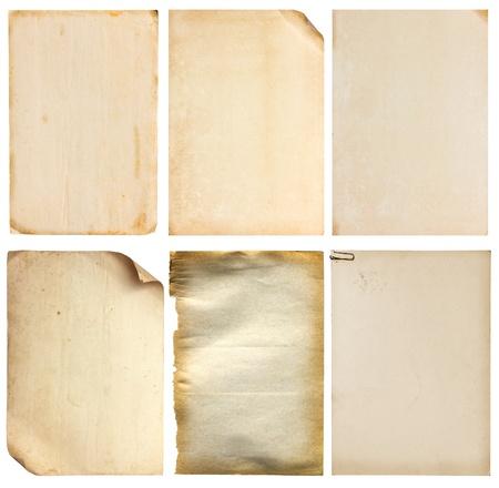 Set of old vintage paper background Imagens