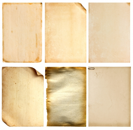 linen paper: Set of old vintage paper background Stock Photo