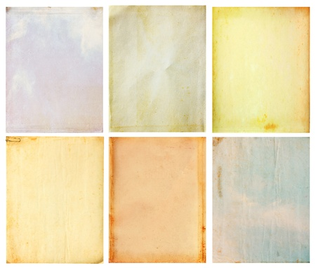 linen paper: 6 old vintage paper background Stock Photo