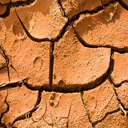 Dry cracked earth texture for background photo