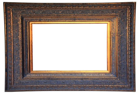 Vintage gold wood frame   photo