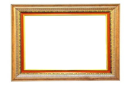 filagree: Vintage gold wood frame   Stock Photo