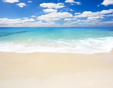 Beach and tropical sea, Kalim beach Phuket South of Thailand photo