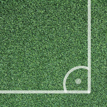 Corner of soccer field, view top Stock Photo - 13414191