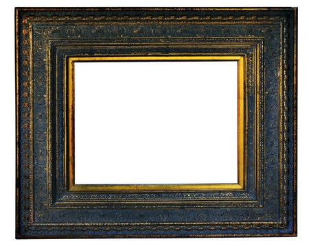 filagree: Vintage wood photo frame