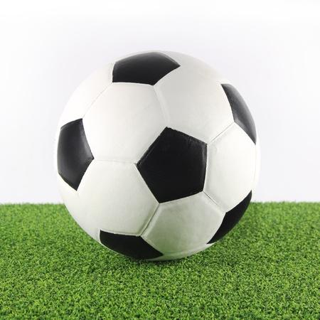 Soccer ball on green grass Stock Photo - 13661609
