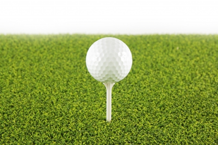 Golf ball on tee ,Focus on the ball   Stock Photo - 13661616