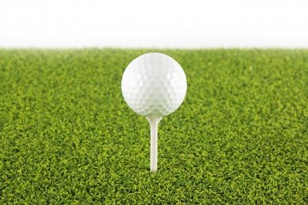 Golf ball on tee ,Focus on the ball Stock Photo - 13661616